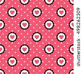 Heart Seamless Pattern With...