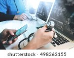 medical technology network team ... | Shutterstock . vector #498263155