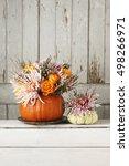 Bouquet Of Flowers In Pumpkin ...