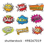 set of comic sound effects... | Shutterstock .eps vector #498267019