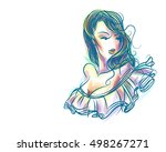 stylish  original hand drawn... | Shutterstock . vector #498267271
