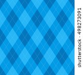 seamless argyle fabric with... | Shutterstock .eps vector #498273091