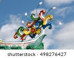 the dragon on the roof | Shutterstock . vector #498276427