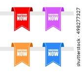 subscribe now hanging upper... | Shutterstock .eps vector #498277327