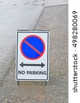 no parking sign | Shutterstock . vector #498280069