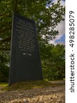 Small photo of This monument covers a memorial stone laid where Walter Tyrrell accidentally shot King William II in the year 1100 whilst out hunting in the New Forest, Hampshire