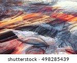 winter sunny morning. bright... | Shutterstock . vector #498285439