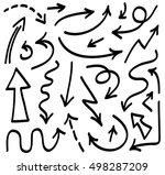 vector drawn arrows | Shutterstock .eps vector #498287209