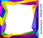 colorful frame blank background ... | Shutterstock .eps vector #498287299