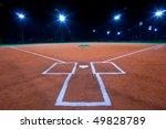 baseball diamond shot at night...   Shutterstock . vector #49828789