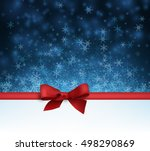 blue winter background with... | Shutterstock .eps vector #498290869