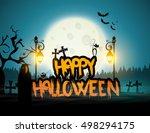halloween poster   card  ... | Shutterstock .eps vector #498294175