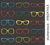 glasses and sunglasses outline... | Shutterstock .eps vector #498297415