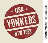grunge vintage round stamp with ... | Shutterstock .eps vector #498300331