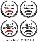 vector symbols for award winner ... | Shutterstock .eps vector #498301141