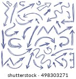 vector drawn arrows | Shutterstock .eps vector #498303271