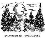 landscape vector illustration.... | Shutterstock .eps vector #498303451