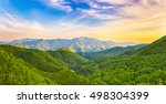 panoramic view of a mountain... | Shutterstock . vector #498304399
