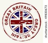 great britain grunge ink rubber ... | Shutterstock .eps vector #49830673
