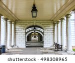 colonnade in national maritime... | Shutterstock . vector #498308965