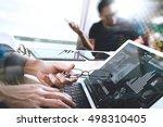 business team meeting present.... | Shutterstock . vector #498310405
