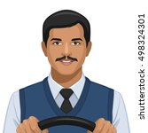 profession  chauffeur | Shutterstock .eps vector #498324301