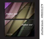 stylish business cards with... | Shutterstock .eps vector #498331279