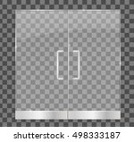 transparent glass door ... | Shutterstock .eps vector #498333187