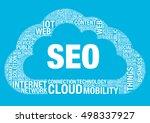 seo cloud computing  vector... | Shutterstock .eps vector #498337927