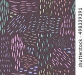 unusual trendy seamless pattern ... | Shutterstock .eps vector #498339391