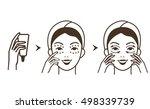 steps how to apply eye cream.... | Shutterstock .eps vector #498339739