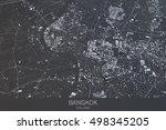 bangkok map  satellite view ... | Shutterstock . vector #498345205