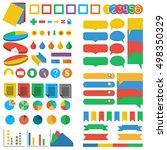 big set of web elements in flat ...   Shutterstock .eps vector #498350329