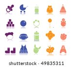 baby icons | Shutterstock .eps vector #49835311