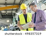 supervisor and manual worker... | Shutterstock . vector #498357319
