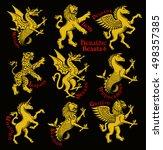 heraldic beasts.  vector... | Shutterstock .eps vector #498357385