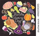 thanksgiving vector set.... | Shutterstock .eps vector #498359395