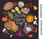 thanksgiving vector set....   Shutterstock .eps vector #498359425
