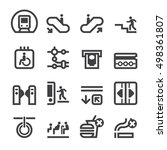 subway icons | Shutterstock .eps vector #498361807
