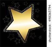vector illustration of gold... | Shutterstock .eps vector #498365794