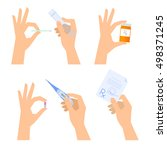 hands are holding medical... | Shutterstock .eps vector #498371245