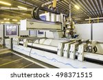 automatic robot machine at... | Shutterstock . vector #498371515