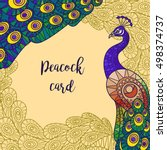 Peacock Colorful Greeting Card...