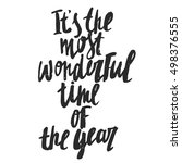 it's the most wonderful time of ... | Shutterstock .eps vector #498376555