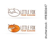 vector fox logo. lying fox. red ... | Shutterstock .eps vector #498383647