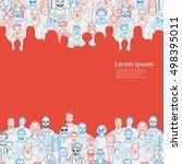 hand drawn people vector... | Shutterstock .eps vector #498395011
