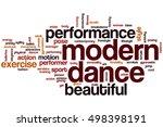 modern dance word cloud concept | Shutterstock . vector #498398191