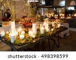 beautiful stylish autumn table...   Shutterstock . vector #498398599