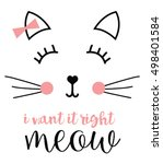 cat graphic | Shutterstock .eps vector #498401584
