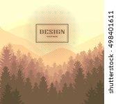 sepia. vintage design of vector ... | Shutterstock .eps vector #498401611